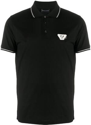 Emporio Armani Logo Patch Cotton Polo Shirt