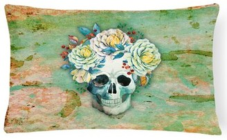 East Urban Home Day of the Dead Skull Lumbar Pillow East Urban Home