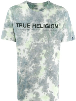 True Religion logo-print tie-dye T-shirt