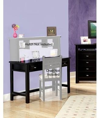 "Allia 48"" W Writing Desk Harriet Bee Color: Black Cherry"