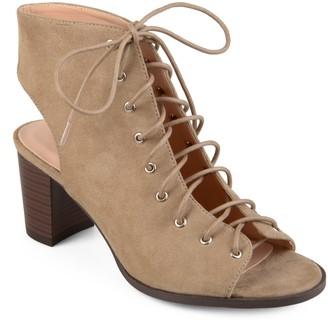 Journee Collection Posey Women's Peep Toe Boots