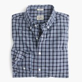 J.Crew Slim Secret Wash shirt in blue plaid
