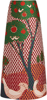RED Valentino Fantasy Landscape-jacquard maxi skirt