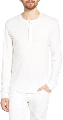 French Connection Slubbed Long Sleeve Henley
