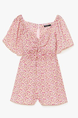 Nasty Gal Womens Read My Tulips Floral Relaxed Playsuit - Pink - 6