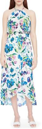 Parker Dottie Floral High/Low Silk Blend Dress
