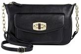 Merona Women's Faux Leather Crossbody Handbag Black