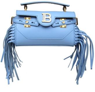 Balmain Bbuzz Bag In Sky Blue Leather