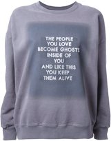 Each X Other studded quote sweatshirt