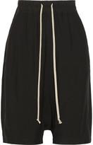 Rick Owens Cotton-trimmed Crepe Shorts - Black