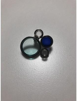 Christian Dior Blue Metal Earrings
