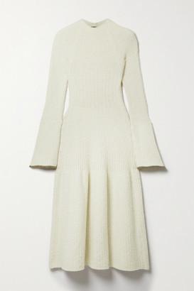 Proenza Schouler Boucle-knit Midi Dress - Cream