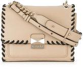 Karl Lagerfeld contrasting trim shoulder bag - women - Calf Leather/Polyurethane - One Size