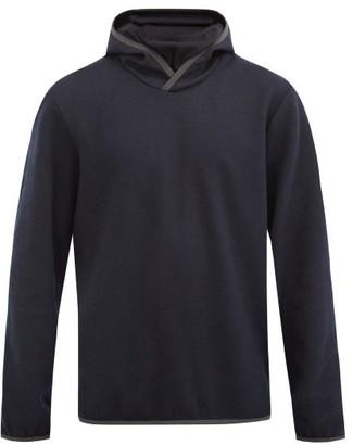 Sease - Drone Wool-blend Jersey Hooded Sweatshirt - Navy