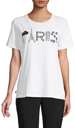 Karl Lagerfeld Paris Paris Embellished Graphic T-Shirt