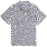 Blue Blue Japan Bassen Printed Linen Shirt - Indigo