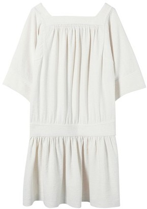 Vanessa Bruno Linen and silk short Nessie dress