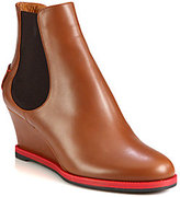 Fendi Cathy Leather Wedge Ankle Boots