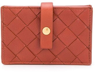 Bottega Veneta intrecciato weave French wallet