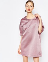 Love Moschino Metallic Textured Oversized Dress