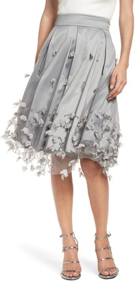 Eliza J Floral Appliqu? Ball Skirt