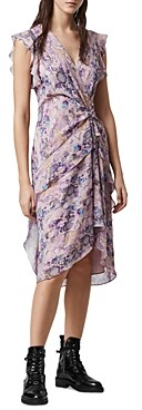 AllSaints Reila Masala Faux Wrap Dress