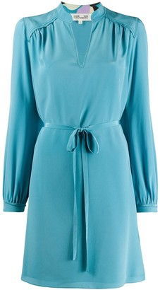 Diane von Furstenberg Long Sleeve Short Dress