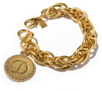 John Wind Maximal Art Sorority Gold Initial Bracelet