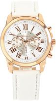 Geneva Platinum White & Goldtone Chronograph Watch