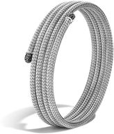 John Hardy Classic Chain Four Coil Bracelet with Black Sapphire