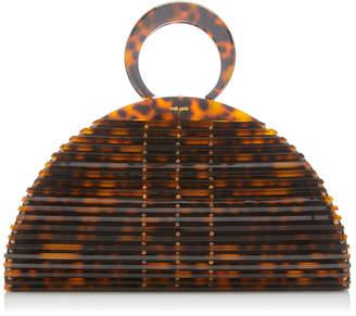 Cult Gaia Neema Tortoiseshell Acrylic Top Handle Bag