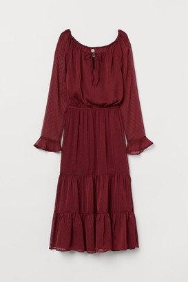 H&M Dress with Ruffles - Red