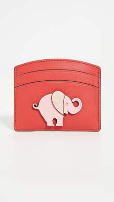 Kate Spade Elephant Applique Card Holder