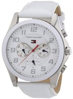 Tommy Hilfiger Multi-Function White Dial White Leather Ladies Watch 1781281