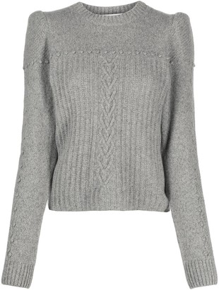 Philosophy di Lorenzo Serafini Shoulder Pad Ribbed Jumper