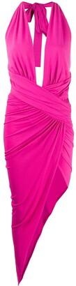 Alexandre Vauthier Asymmetric Plunge Midi Dress