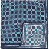 Hugo Boss Hugo By Hugo Boss Tile Print Silk Pocket Square, Teal