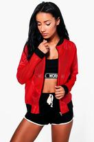 Boohoo Paige Fit bomber Sports Jacket
