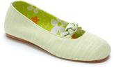 Tender Tootsies Green Ballerina Slipper
