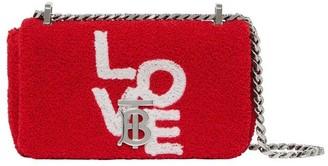 Burberry Mini Love Motif Towelling Lola Bag