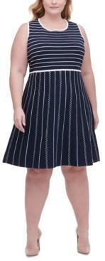 Tommy Hilfiger Plus Size Striped Sweater Dress