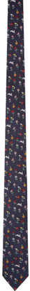 Paul Smith Navy Silk Rabbit Tie