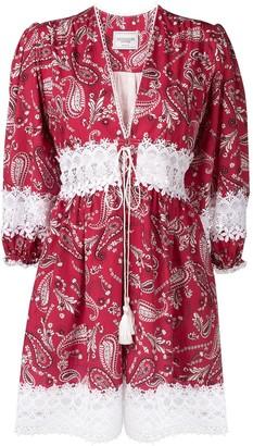 Forte Dei Marmi Couture Paisley Print Dress
