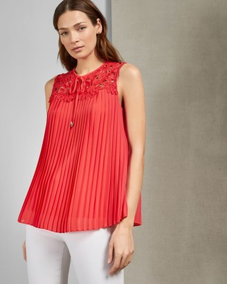 Ted Baker Pleated Lace Blouse
