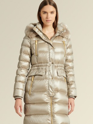 DKNY Down Fill Parka With Fur-lined Hood