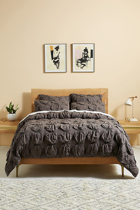 Anthropologie Textured Elroy Quilt By in Grey Size Q top/bed