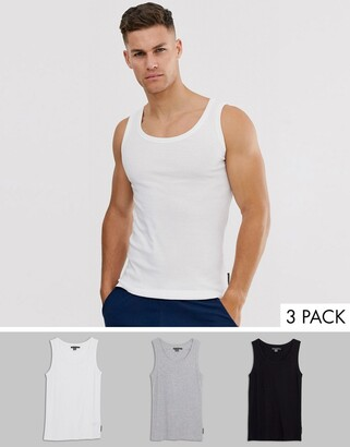 French Connection 3 pack lounge vest-Multi