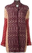 Forte Forte long jacquard cardigan - women - Cotton/Polyamide/Spandex/Elastane/Wool - 0