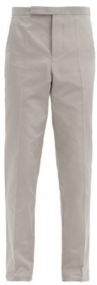 Haider Ackermann Slim-leg Cotton-blend Rep Suit Trousers - Grey