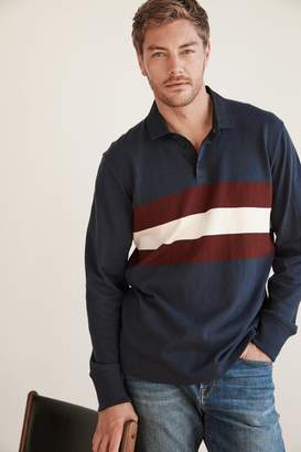 Velvet by Graham & Spencer JACQUES RUGBY LONG SLEEVE POLO SHIRT